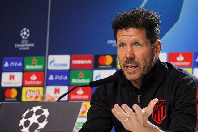 "Fútbol/Champions.- Simeone: ""Mi asignatura pendiente es seguir mejorando al club"