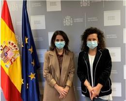 La secretaria de Estado de Sanidad, Silvia Calzón, se reúne con la presidenta de la Sociedad Española de Salud Pública y Administración Sanitaria (SESPAS), Josefa Cantero.