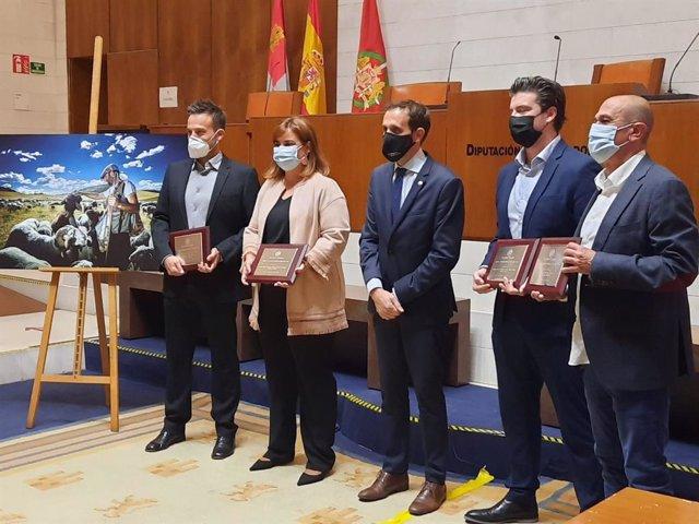 Los periodistas galardonados en la XXIV edición de los Premios de Periodismo Diputación de Valladolid.