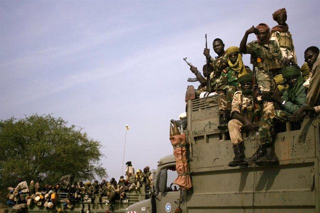 Soldados del Ejército de Chad
