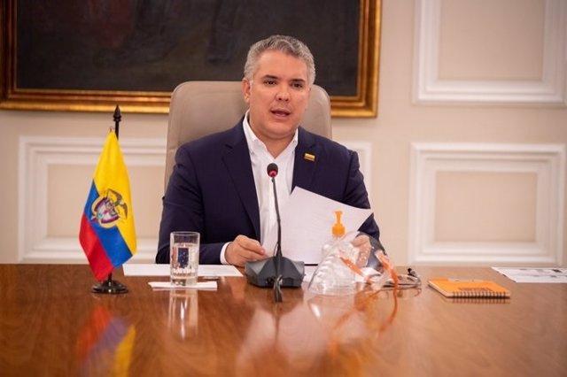 Imagen del presidente de Colombia, Iván Duque.