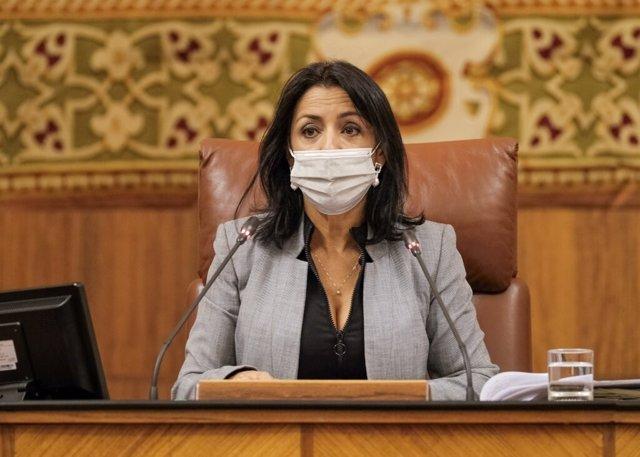 La presidenta del Parlamento, Marta Bosquet