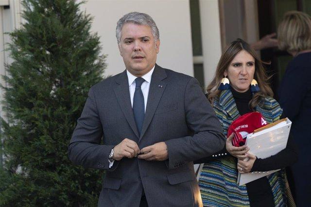 El presidente de Colombia, Iván Duque, durante su visita a Washington.