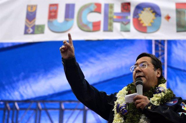 El candidato del Movimiento al Socialismo (MAS), Luis Arce, reciente vencedor de las elecciones de Bolivia.