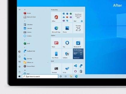 Ya disponible la actualización de octubre de Windows 10: novedades en Microsoft Edge y rediseño del menú de inicio