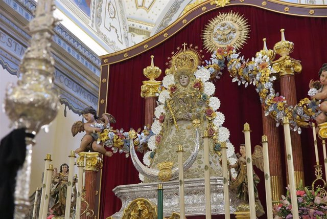Virgen del Rocío, en la parroquia de la Asunción. Mayo de 2020.