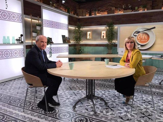 L'expresident de la Generalitat, José Montilla, i la periodista Gemma Nierga