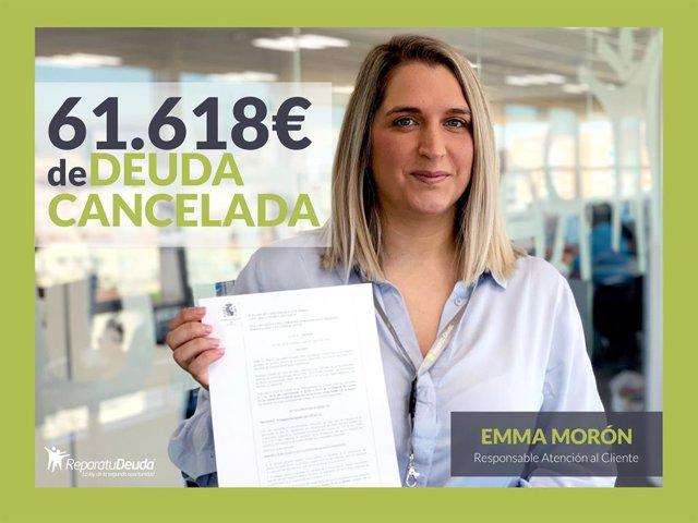 Emma Morón, responsable atención al cliente de Repara tu deuda