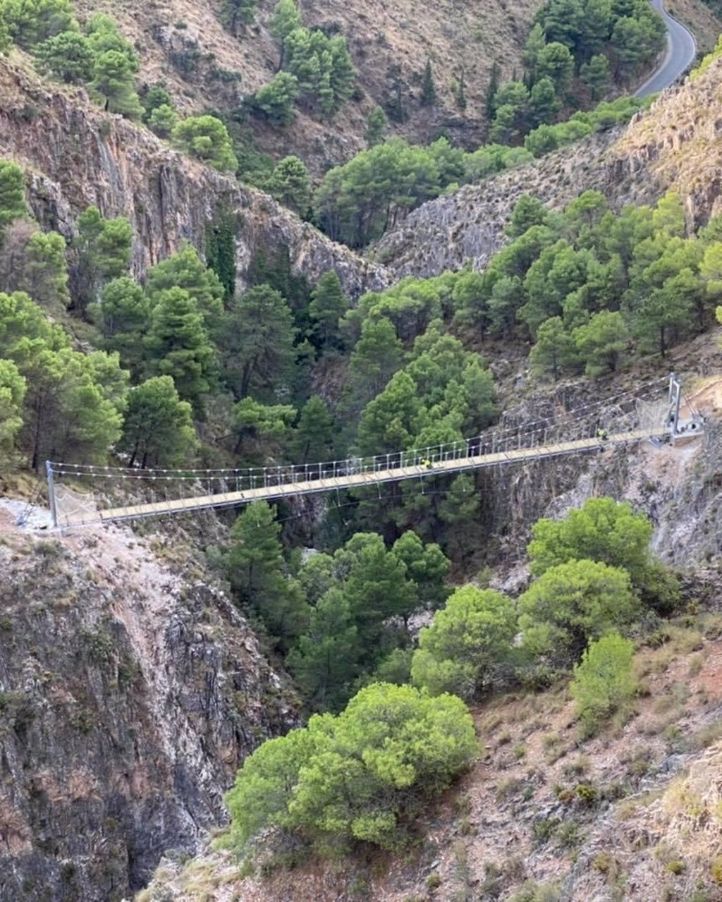 La Gran Senda de Málaga se enriquece con uno de los tres puentes colgantes más grandes de España en espacios naturales 3
