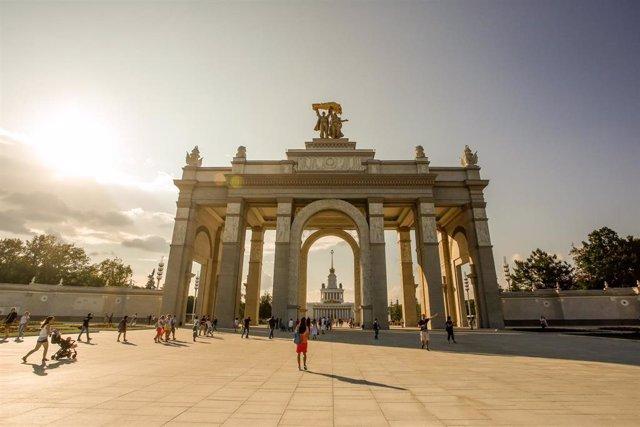 Entrada a un parque de atracciones y una feria de exhibiciones en Moscú