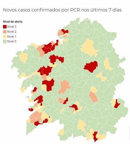 Ocho municipios más en alerta roja por covid, entre ellos Lugo, Pontevedra, A Estrada y Oleiros