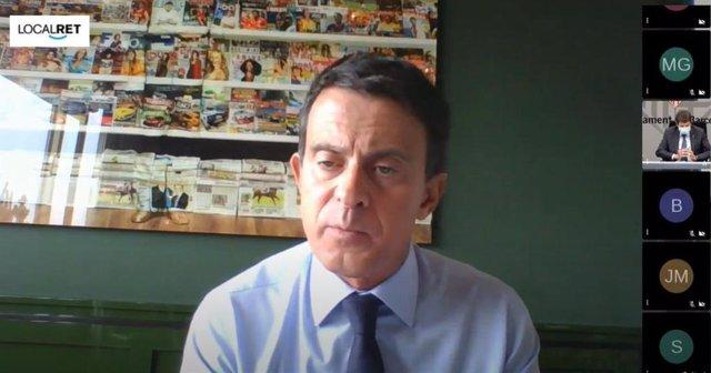 El líder del grupo municipal BCNCanvi en el Ayuntamiento de Barcelona, Manuel Valls.