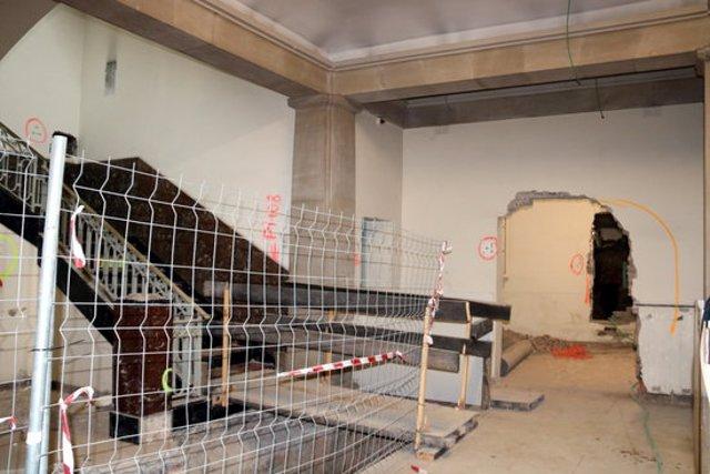 Pla obert de les obres d'adequació de l'edifici de l'Antiga Audiència de Lleida per tal que pugui acollir el nou Museu d'Art de Lleida, el 21 d'octubre del 2020. (Horitzontal)