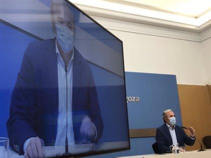 Azcón aboga por dar soluciones y propone una campaña con más medios sobre la app Radar Covid