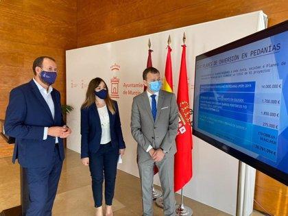 Las pedanías de Murcia dispondrán de 7,5 millones de euros para inversiones directas