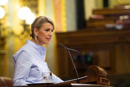 """Yolanda Díaz subraya que el discurso """"sin ideas"""" de Vox no esconde su objetivo: la """"disputa"""" de la derecha"""