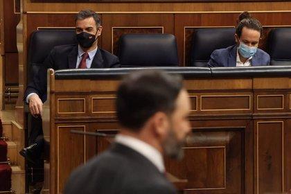 """Abascal acusa a Sánchez de """"mentir sin escrúpulo"""" para caricaturizar a Vox y justificar sus pactos con Iglesias"""