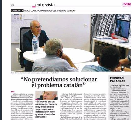 """Llarena habla con los presos sobre Puigdemont y del riesgo de """"entregar el control"""" del CGPJ a 5.500 jueces"""