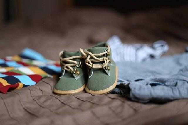 Zapatos de bebé, niño, nacimiento, hijo, hijos, familia