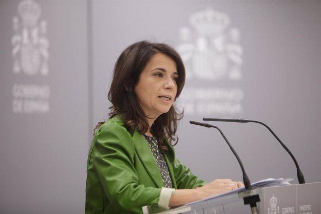 La Secretaria de Estado de Sanidad, Silvia Calzón, ofrece una rueda de prensa para informar del seguimiento de la pandemia del Covid-19, en el Ministerio de Sanidad, en Madrid (España) a 24 de septiembre de 2020.