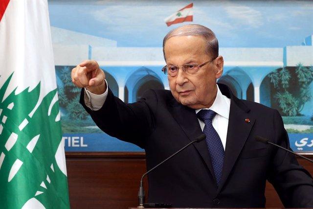 """Líbano.- Aoun dice que """"asumirá su responsabilidad"""" de cara al nombramiento del"""
