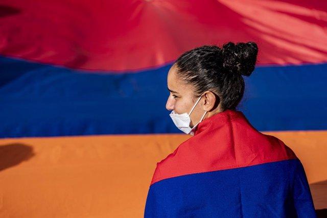 Protestes a Yerevan pel reconeixement d'Alt Karabakh.
