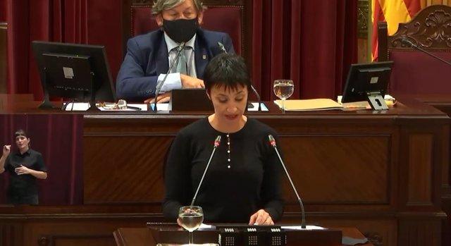 La portavoz del PSIB en el Parlament, Silvia Cano.