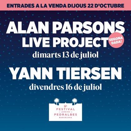 El Festival Jardins Pedralbes anuncia a Yann Tiersen y una segunda fecha de Alan Parsons Live Project