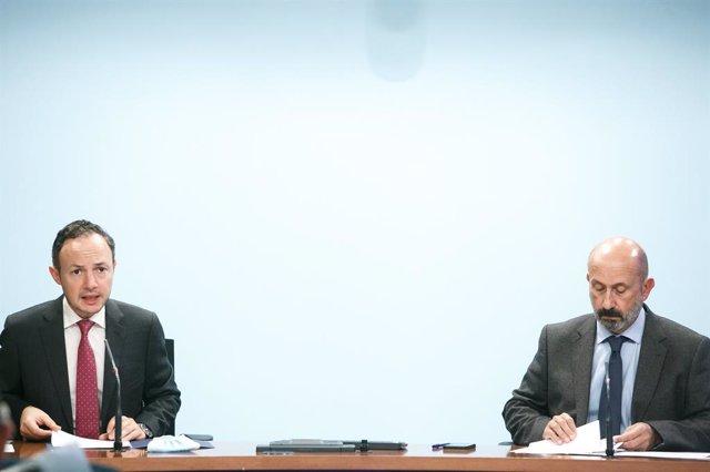 El cap de Govern andorrà, Xavier Espot, i el ministre de Salut, Joan Martínez Benazet.