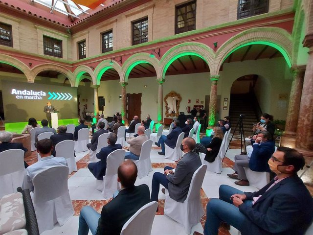 Presentación del Plan Andalucía en Marcha en Lucena (Córdoba)