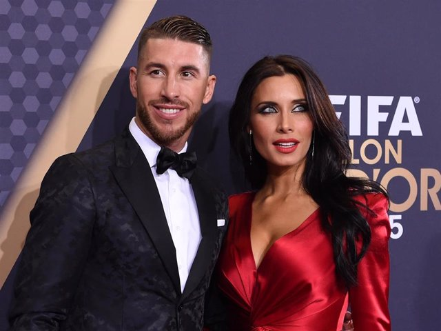 Sergio Ramos and Pilar Rubio attend the FIFA Ballon d'Or Gala 2015 at the Kongresshaus on January 11, 2016 in Zurich, Switzerland.