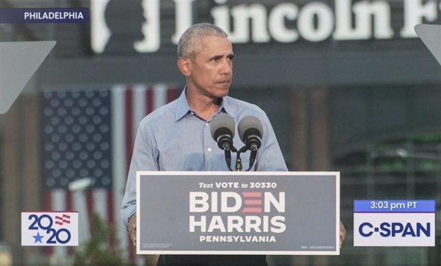 EEUU.- Obama reaparece para atacar a Trump y pide el voto para Biden pues EEUU n
