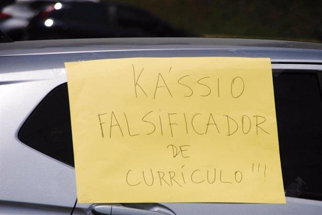 Protestas contra el nombramiento del juez Kassio Marques para sustituir a Celso de Mello en el Tribunal Supremo de Brasil.
