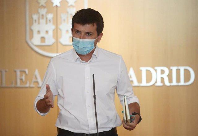 El portavoz de MásMadrid en la Asamblea de la Comunidad de Madrid, Pablo Gómez Perpinyà