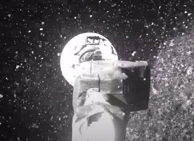 Toma de muestras en el asteroide Bennu