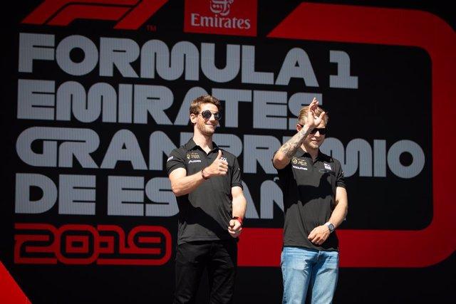 AMP.- Fórmula 1.- Grosjean y Magnussen abandonarán Haas al final de la presente