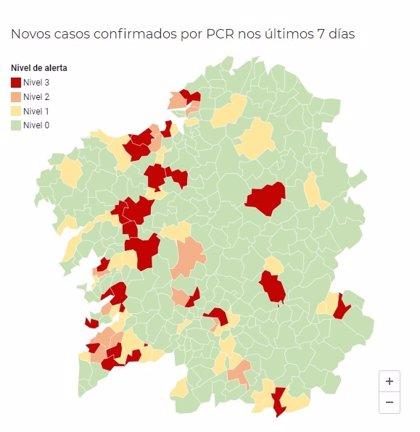 Los ayuntamientos gallegos en alerta roja se elevan a 24, al entrar Teo, Monforte, Nigrán y O Porriño