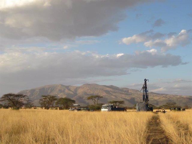 Sondeo de sedimentos en el Valle del Rift para el estudio