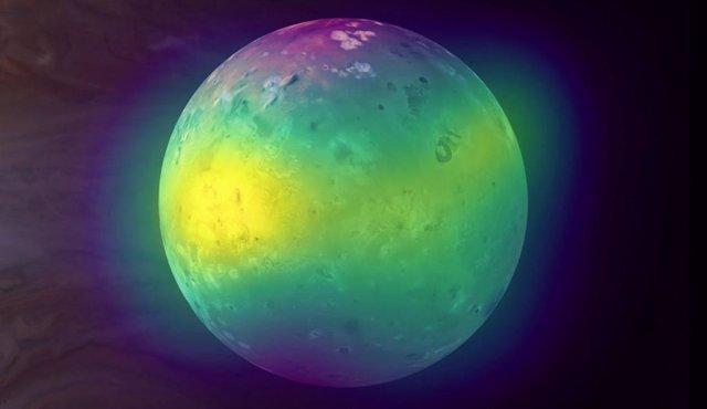Primera observación del impacto volcánico en atmósfera de Io