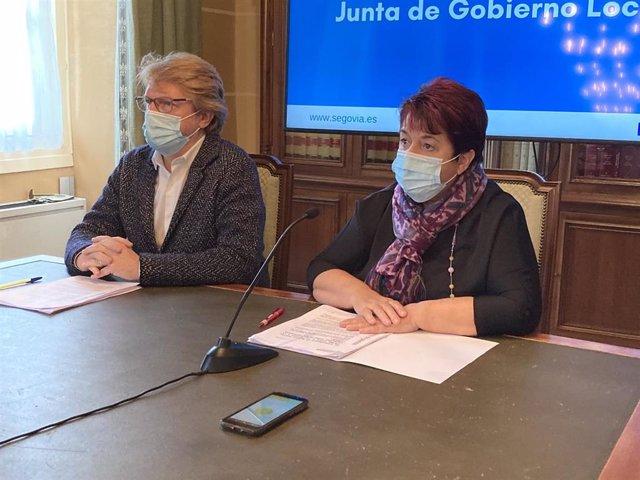Rueda de prensa tras la Junta de Gobierno en el Ayuntamiento de Segovia.