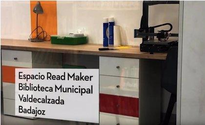 El Ministerio de Cultura incluye en el vídeo del Día de las Bibliotecas a la de Valdelacalzada (Badajoz)