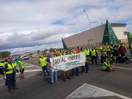 La plantilla de Trenasa convoca una manifestación el sábado en Castejón contra el cierre de la planta