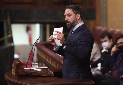 Abascal achaca el 'no' del PP a su moción de censura a que van a negociar el reparto de jueces con el Gobierno