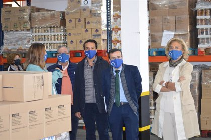 La Diputación de Badajoz incrementa su apoyo al Banco de Alimentos ante el aumento de las personas que buscan ayuda