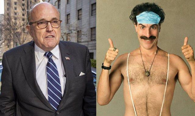 """Rudy Giuliani, tras su embarazosa escena en Borat 2: """"Estaba metiéndome la camiseta"""""""