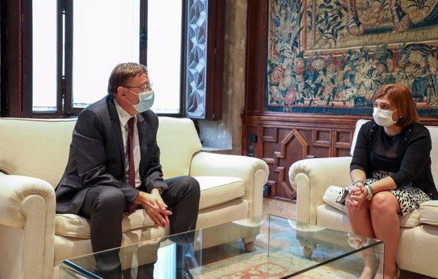 El president de la Generalitat, Ximo Puig, es reuneix amb la presidenta del PPCV, Isabel Bonig