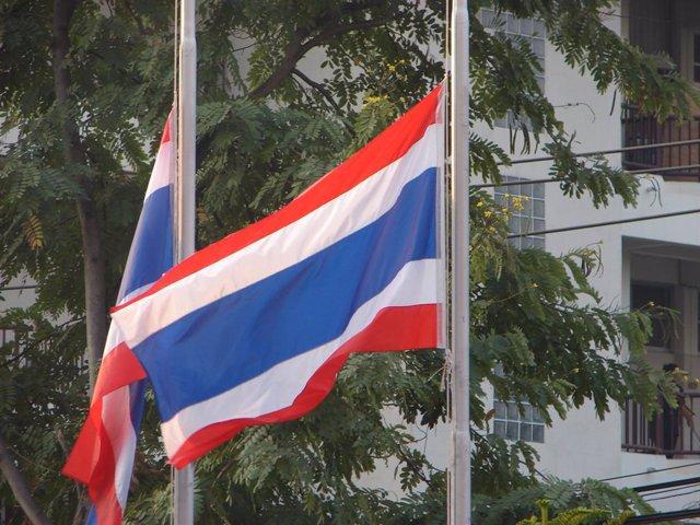 Bandera de Tailàndia.