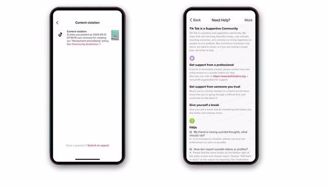 TikTok será más transparente con la eliminación de contenidos