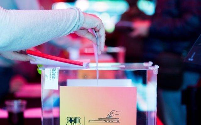 Votación electoral en el FC Barcelona