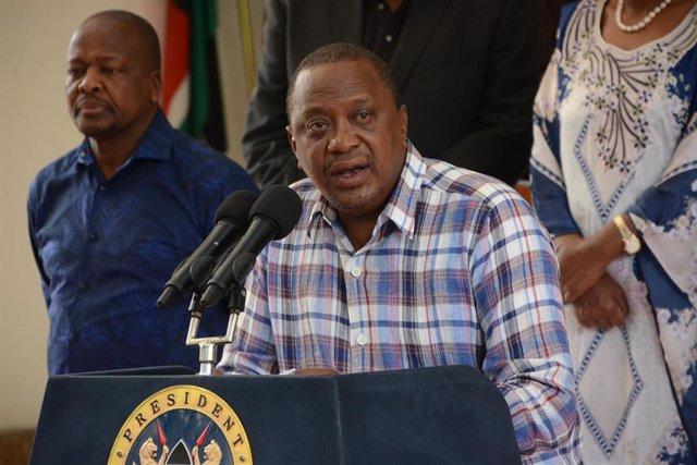 El presidente de Kenia, Uhuru Kenyatta